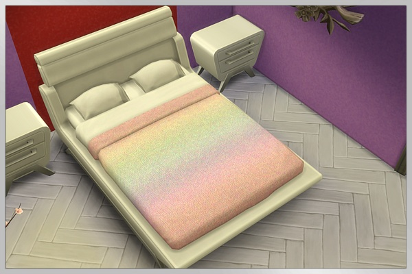 Blackys Sims 4 Zoo Rainbow Color Bed By Cappu Sims 4