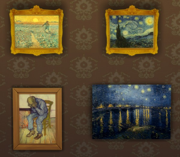 Mod The Sims Vincent Van Gogh 10 Paintings By Ironleo78