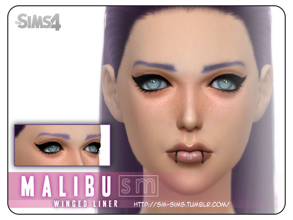 The Sims Resource Malibu Winged Liner By Screaming
