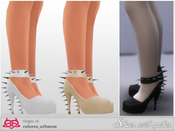 The Sims Resource: Spiking shoes by Colores Urbanos