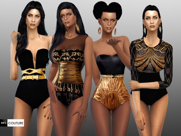 The Sims Resource: Black and Gold Set by Miss Fortune Sims