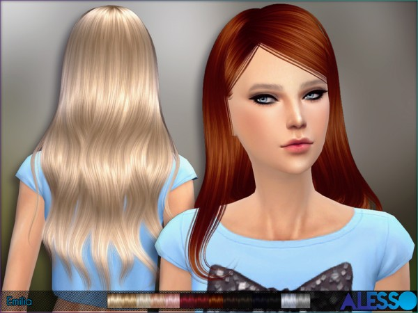 The Sims Resource: Emilia hair by Alesso
