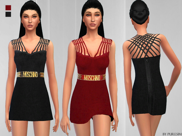 The Sims Resource: Chic Dress by PureSim