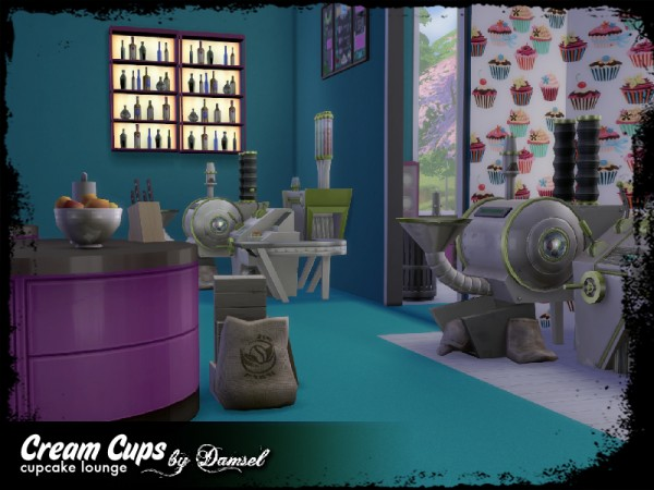The Sims Resource: Cream Cups Lounge by Damsel In Decease