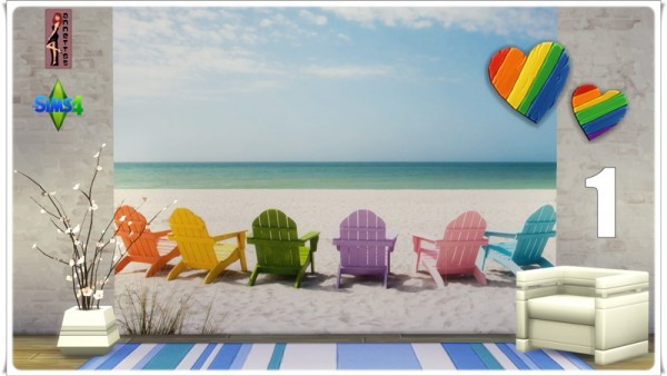 Annett`s Sims 4 Welt: Wallpapers Beach