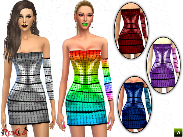 The Sims Resource: Disco Dress by RedCat