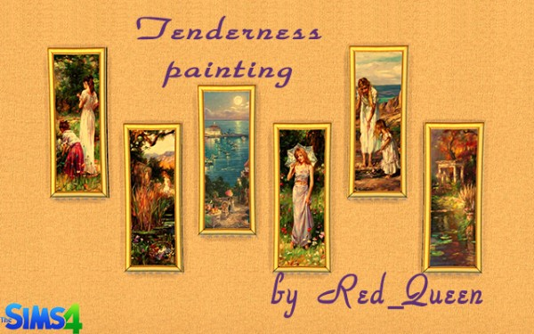 Ihelen Sims: Tenderness Painting by Red Queen