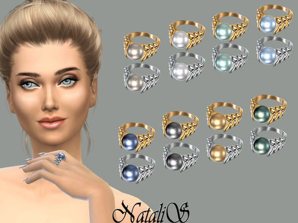 The Sims Resource: Spike and pearl ring by NataliS