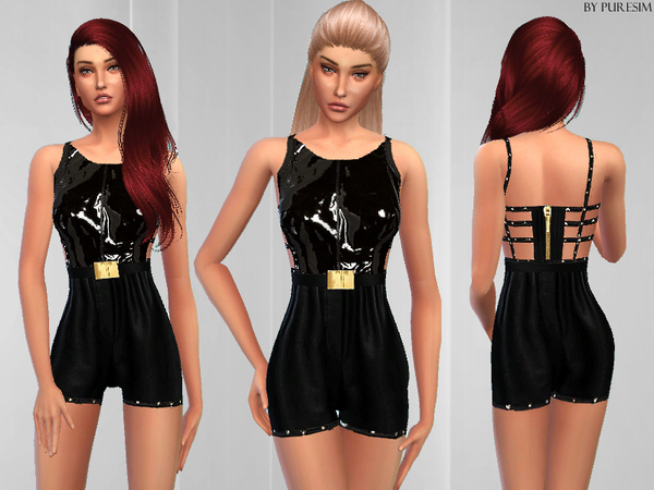 The Sims Resource: Chic Leather Outfit by PureSim