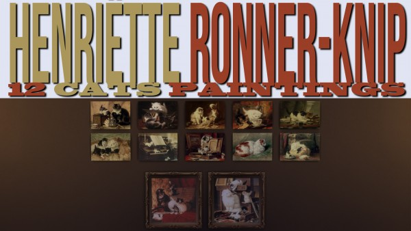 Mod The Sims: Henriëtte Ronner Knip 12 Paintings by Ironleo78