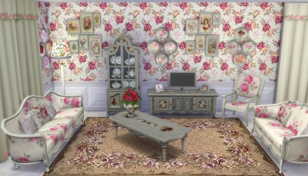 Sims Creativ: Shabby Chic Livingroom by HelleN