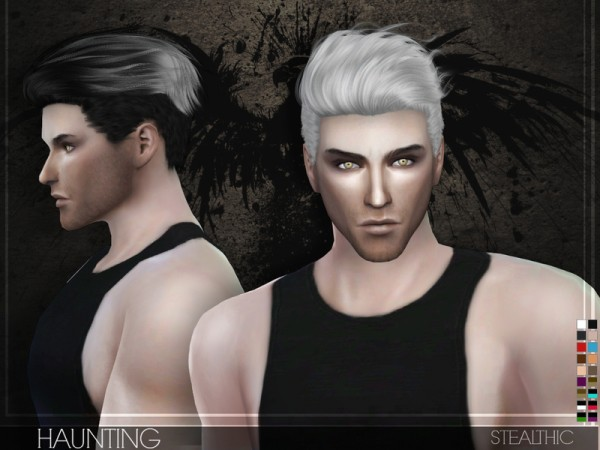 The Sims Resource: Stealthic - Haunting (Male Hair) • Sims 4 Downloads
