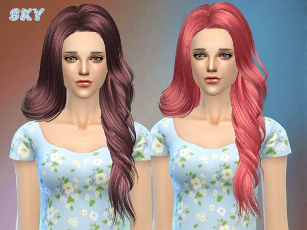 The Sims Resource: Hairstyle 210 by Skysims