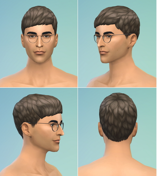Rusty Nail: Short straight bangs hairstle retextured