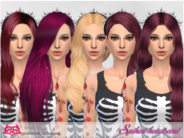 The Sims Resource: Spiked Headband by Colores Urbanos