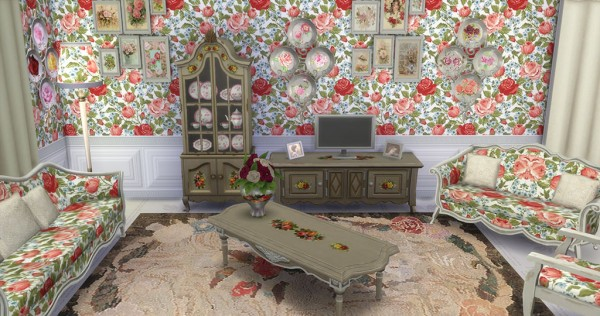 sims creativ shabby chic livingroom by hellen sims 4 downloads. Black Bedroom Furniture Sets. Home Design Ideas
