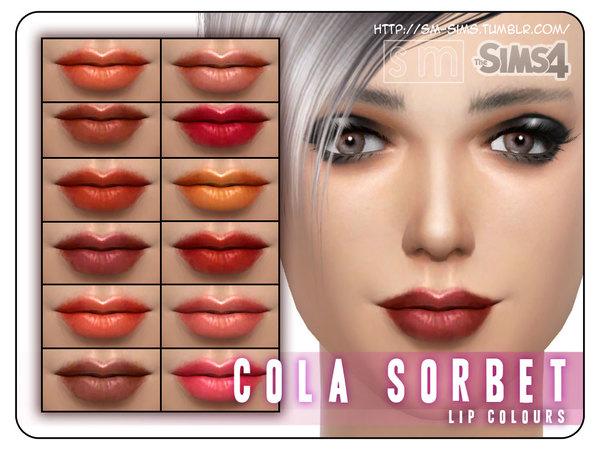 The Sims Resource: Cola Sorbet   Lip Recolours by Screaming Mustard