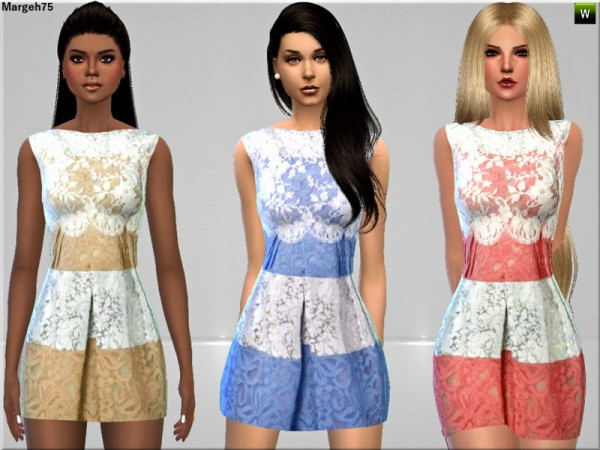Sims 3 Addictions: Delicate Lace Dress by Margies Sims