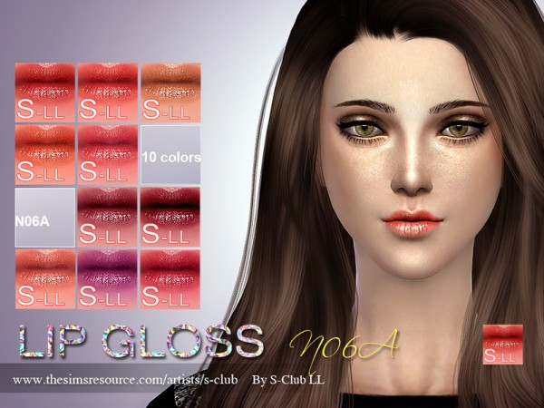 The Sims Resource: Lipstick F06A by S Club