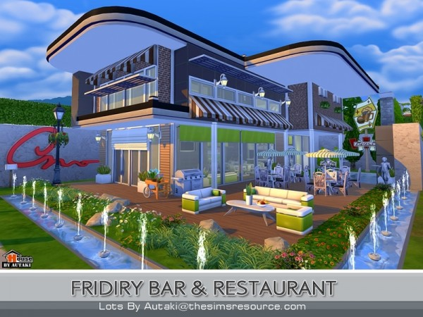 The sims resource fridiry bar and restaurant by autaki