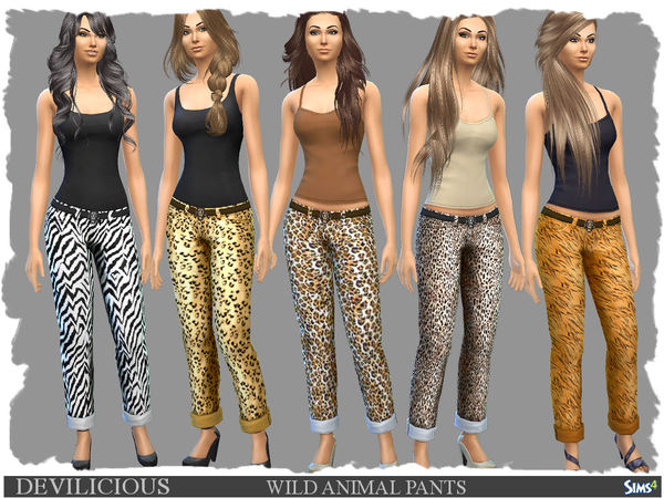 The Sims Resource: Wild Animal Pants by Devilicious