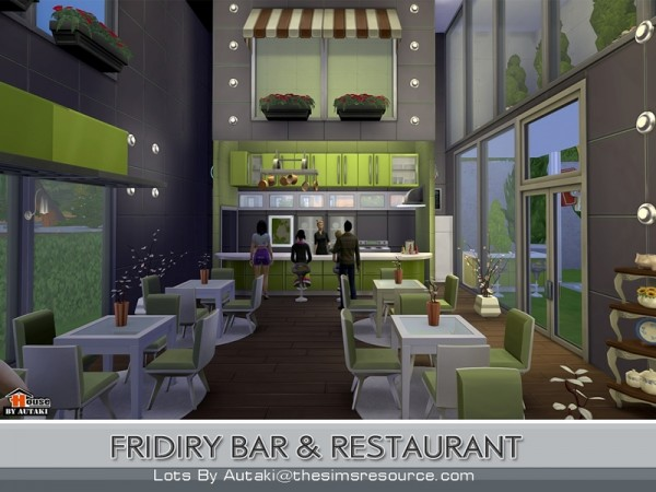 The sims resource fridiry bar and restaurant by autaki sims 4