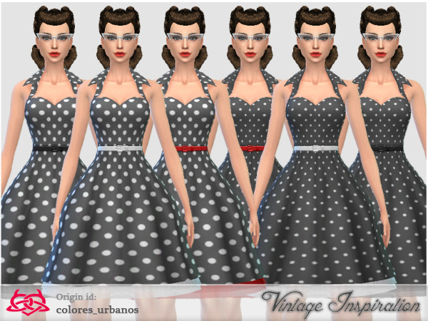 The Sims Resource  Recolor Rockabilly Dress4 lunares 2 by Colore  Urbanos. The Sims Resource  Recolor Rockabilly Dress4 lunares 2 by Colore