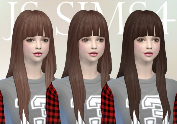 JS Sims 4: NotEgain Alicia hairstyle retextured