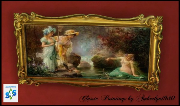 Amberlyn Designs Sims Quot Classic Paintings Collection