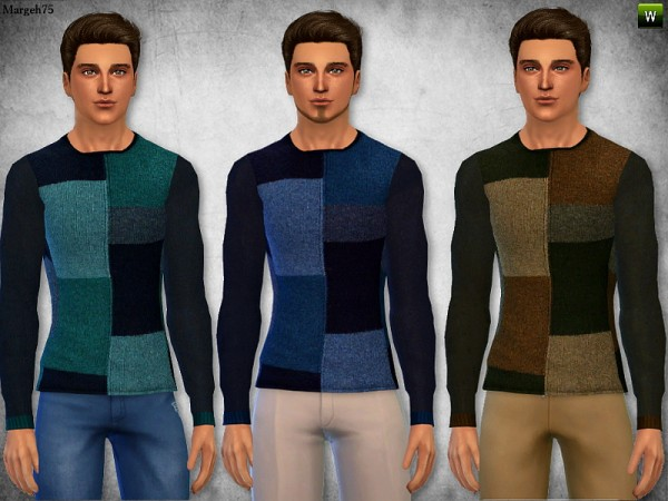 Sims 3 Addictions: Patchwork Sweater by Margies Sims