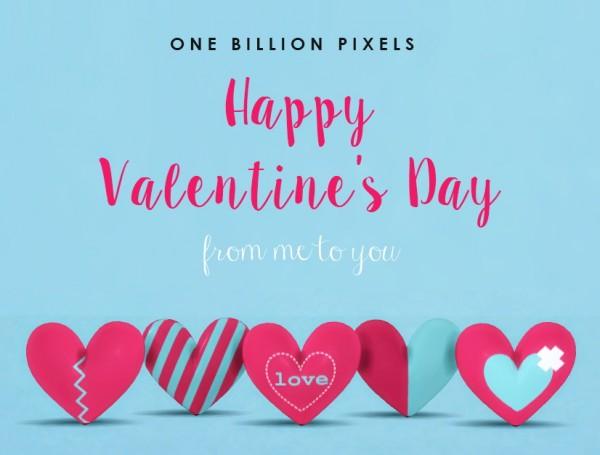 One Billion Pixels: Heart pilows