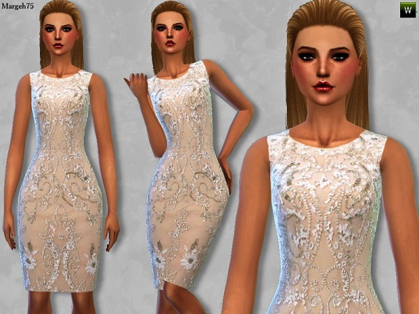 Sims 3 Addictions: Beaded Cocktail Dress by Margies Sims
