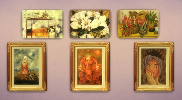 Mod The Sims: Frida Kahlo 6 Paintings by ironleo78