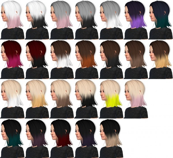 Hairstyles Gifts : Miss Paraply: 4000+ Followers gift hairstyle ? Sims 4 Downloads