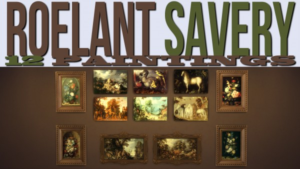 Mod The Sims: Roelant Savery 12 Paintings by ironleo78