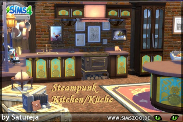 Blackys Sims 4 Zoo: Kitchen Recolor by Satureja Antares