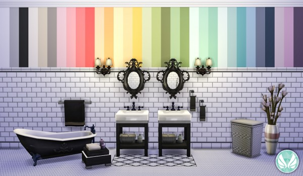 Simsational designs: Classic Wall Set   Beveled Subway Tiles