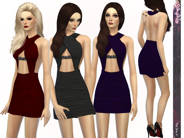 The Sims Resource: Elegant Glance Dress by Simsimay