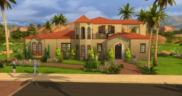 Lacey loves sims spanish villa sims 4 downloads for Spanish villa house