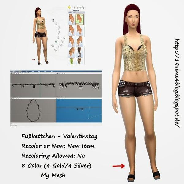 19 Sims 4 Blog: Ankle bracelet