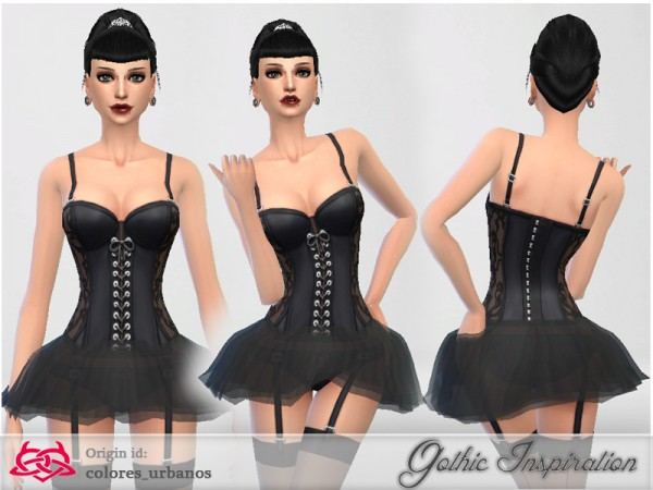 The Sims Resource: Tutu corset by Colores Urbanos