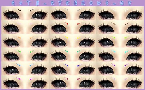 Decay Clown Sims: Goth eyebrow 05