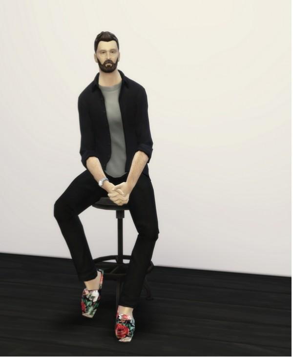 Rusty Nail: Sitting pose 1