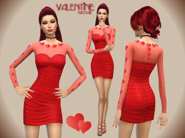 The Sims Resource: Valentine dress by paogae