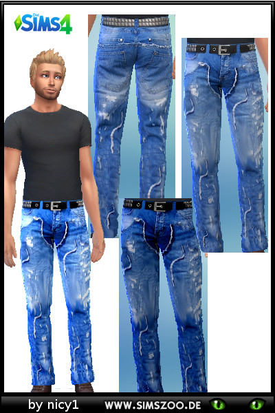 Blackys Sims 4 Zoo: Jeans for males by nicy1