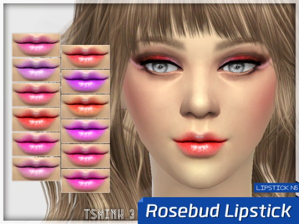The Sims Resource: Rosebud Lipstick by tsminh 3