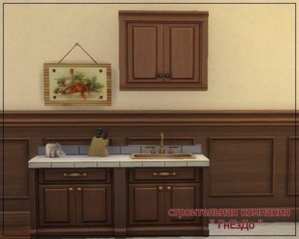 Sims 3 by Mulena: Paintings Kitchen Vegetables in decoupage