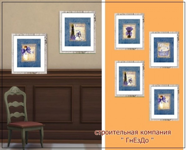 Sims 3 by Mulena: Lavender paintings