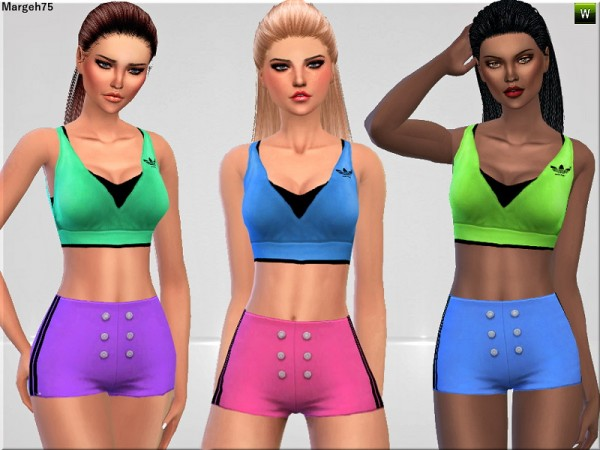 Sims 3 Addictions: Sims 4 Fit N Fine by Margies Sims