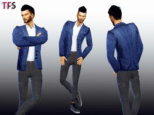 The Sims Resource: Denim Blazer by TwistedFate Sims